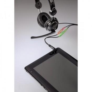 3,5 mm jack-2x 3,5 mm jack adapter kábel