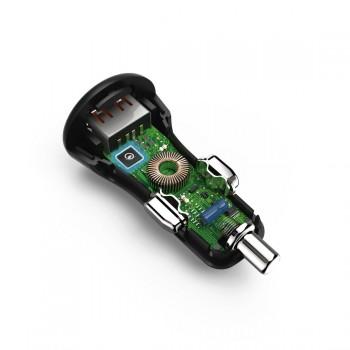 AUTÓS TÖLTŐ  USB 3A, QUALCOMM QC 3.0 (19,5W)