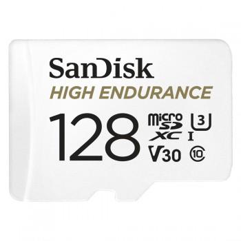 SANDISK MICRO SDXC KÁRTYA HIGH ENDURANCE 128GB,100 MB/S,C10,U3,V30