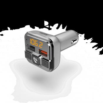 HAMA FM TRANSZMITTER (USB,AUX,MICROSD,BT, QC 3.0)+TELEFON KIHANGOSÍTÓ