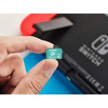 SANDISK microSDXC KÁRTYA NINTENDO SWITCH 512GB, 100MB/s, U3, C10, A1, UHS-1