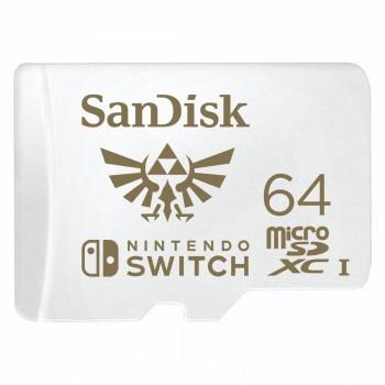 SANDISK microSDXC KÁRTYA NINTENDO SWITCH 64GB, 100MB/s, U3, C10, A1, UHS-1