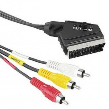 Scart-3 RCA összekötő kábel kapcsolható 1,5 m