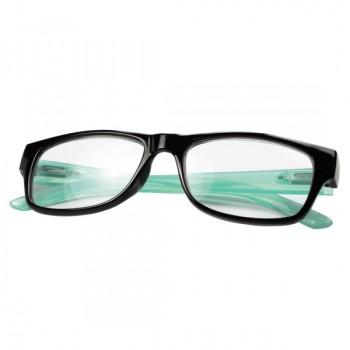 Olvasószemüveg, műanyag, +1 dpt, fekete/kék