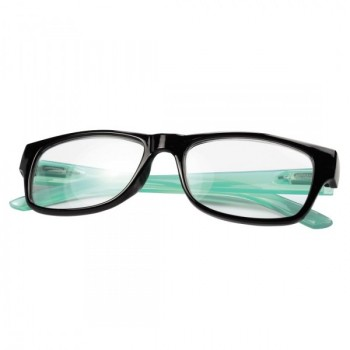 Olvasószemüveg, műanyag, +3 dpt, fekete/kék